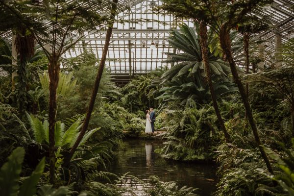 Garfield Park Conservatory Wedding Photography | Chicago, Illinois | Tiffany + Luke