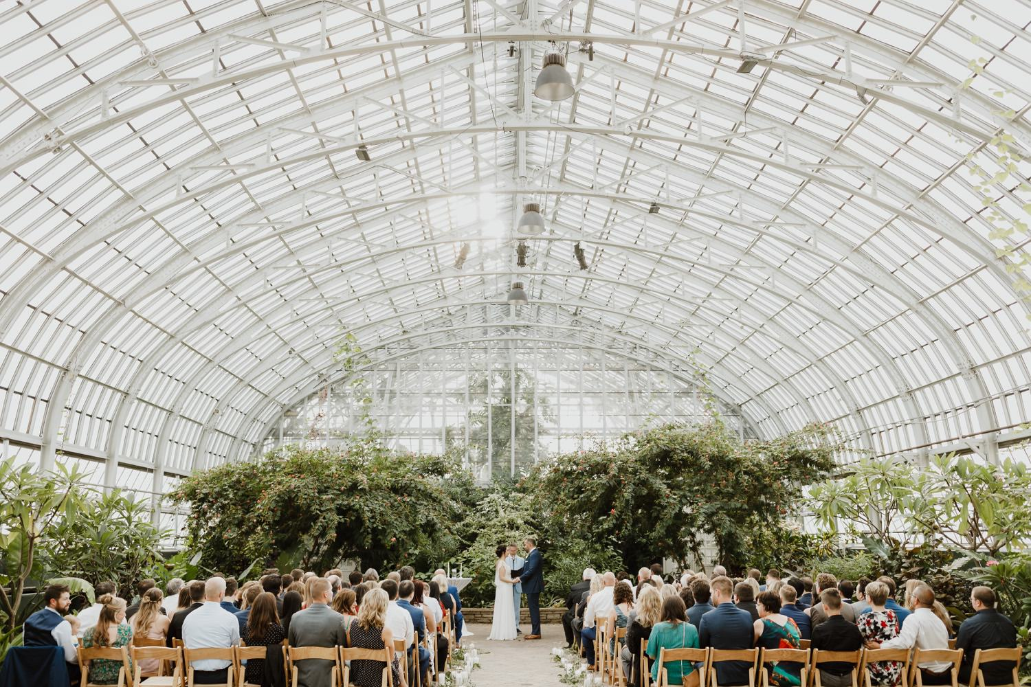 Picture of the ceremony at Garfield park conservatory