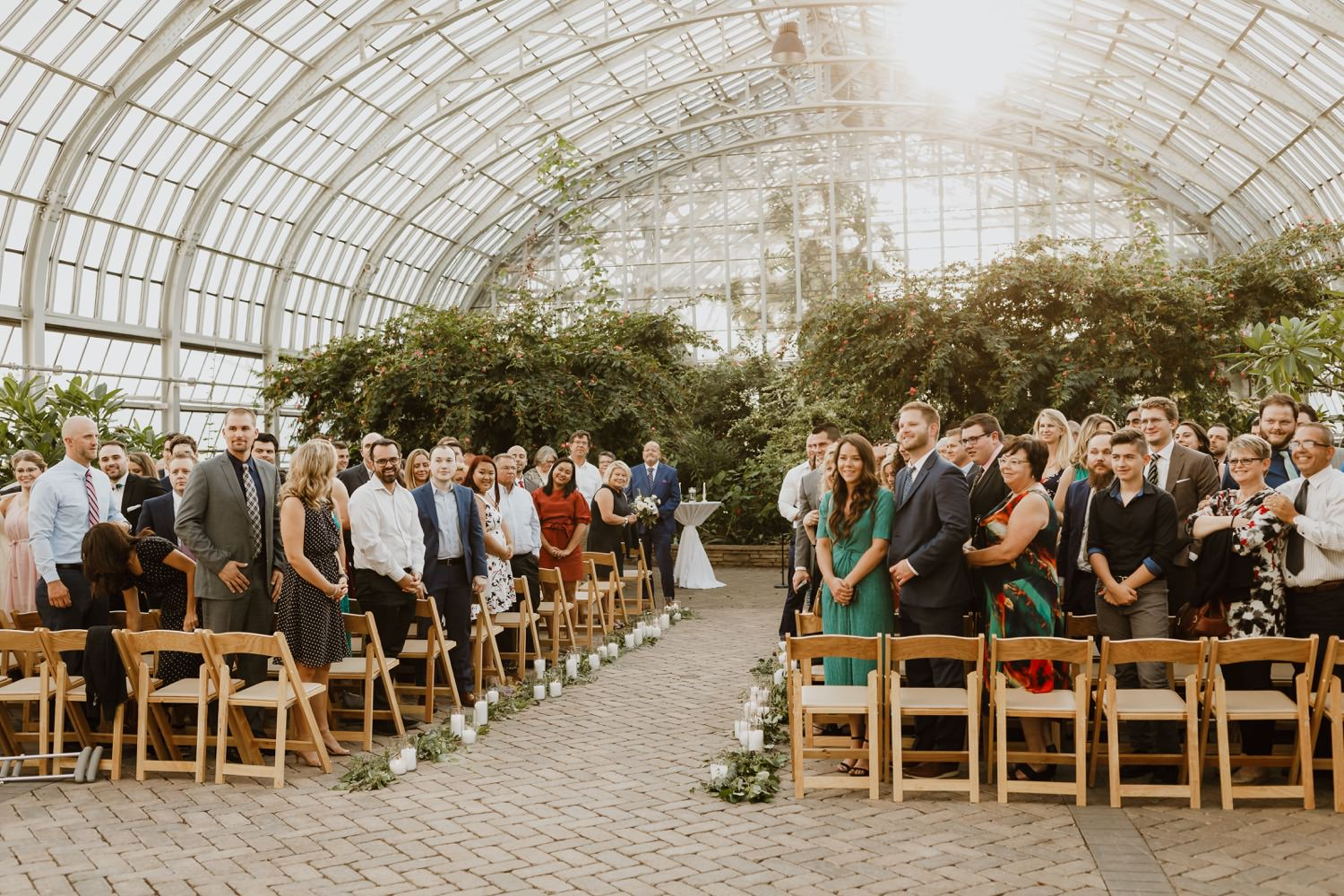 Picture of wedding guest at Garfield Park Conservatory