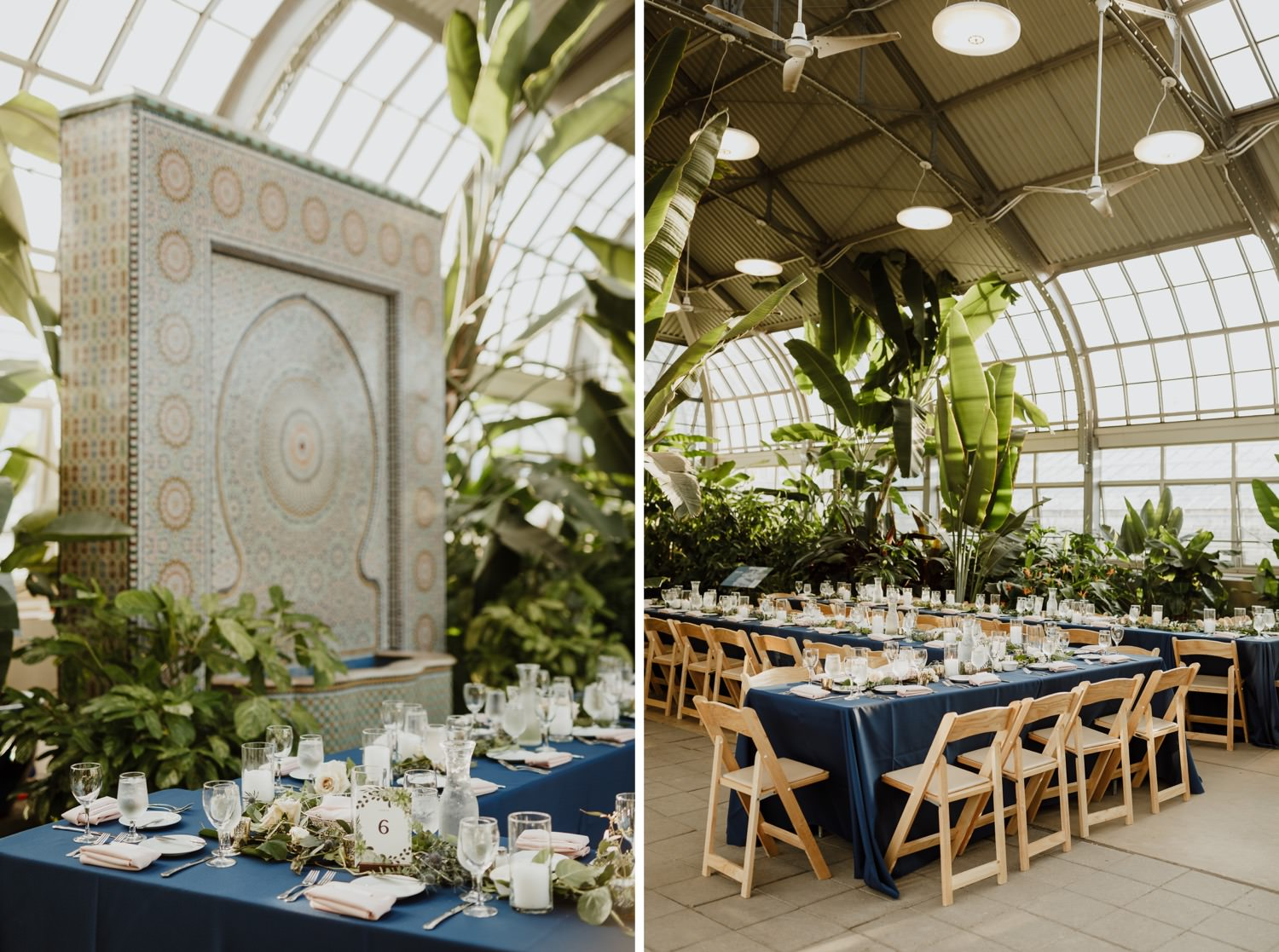 pictures of details and table set up at Garfield park wedding in Chicago