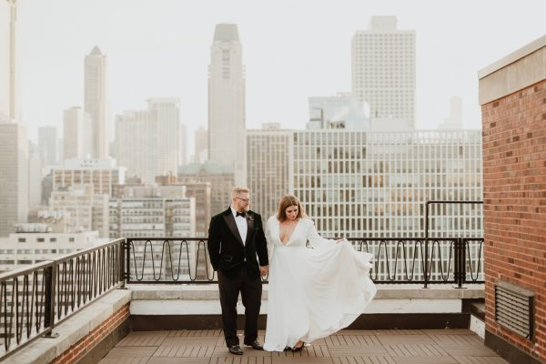 Winter Chicago Elopement Photography | Ambassador Hotel