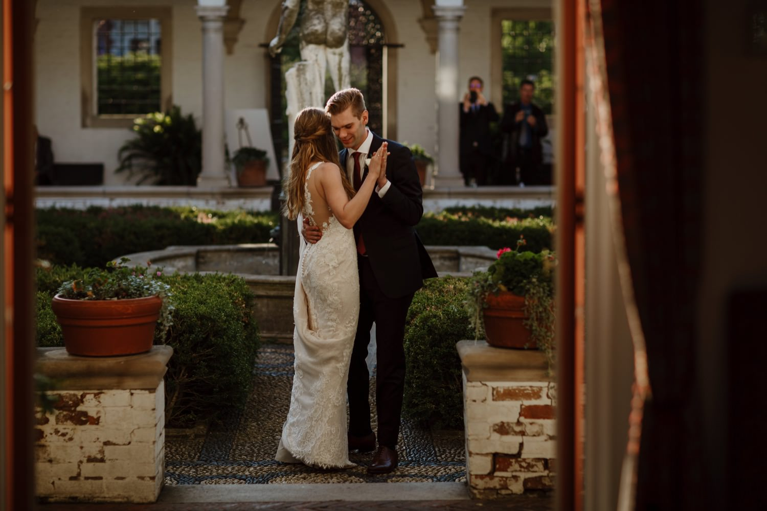 First dance between bride and groom at Villa Terrace in Milwaukee