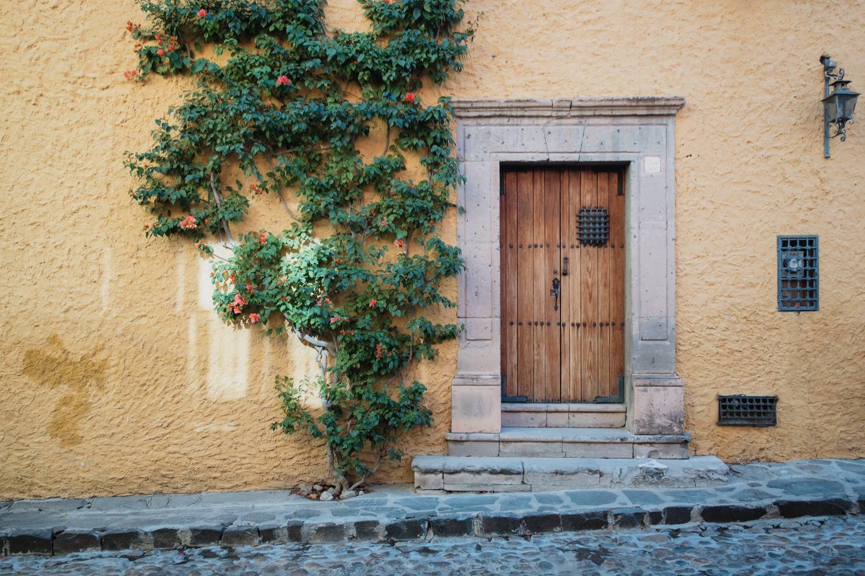 Old door of the house in San Miguel dee Allende